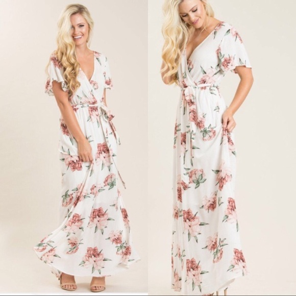 b77fea226abd2 Morning lavender BETHANY WHITE FLORAL MAXI DRESS. M_5b4f98de8158b56ed27bf8d7